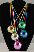12 Disco Ball Necklaces - Wholesale Vending Products