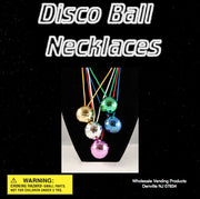 "250 Disco Ball Necklaces In 2"" Capsules - Wholesale Vending Products"