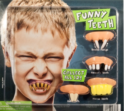 "250 Funny Teeth in 2"" Capsules - Wholesale Vending Products"