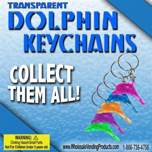 "250 Dolphin Keychains - 2"" - Wholesale Vending Products"