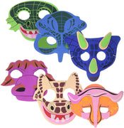 12 - Foam Dinosaur Masks - Wholesale Vending Products