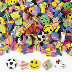 500 Pc Mini Eraser Assortment