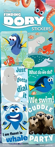 300 Finding Dory Stickers In Folders - FREE DISPLAY! - Wholesale Vending Products
