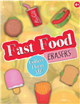 "250 Fast Food Erasers - 1"" - Wholesale Vending Products"