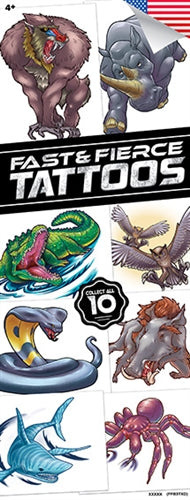300 Fast & Fierce Tattoos Tattoos In Folders - FREE DISPLAY! - Wholesale Vending Products