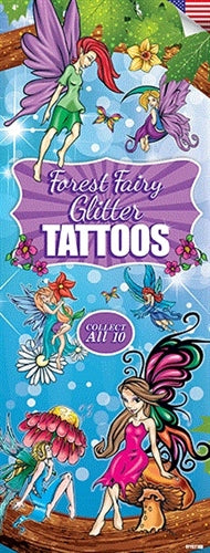 300 Forest Fairy Temporary Tattoos In Folders - FREE DISPLAY!