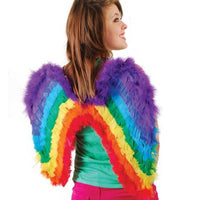 Rainbow Feather Costume Wings - Wholesale Vending Products