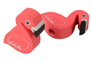 12 Flamingo Pencil Top Erasers - Wholesale Vending Products