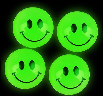 144 27mm Glow In The Dark Smile Face Balls
