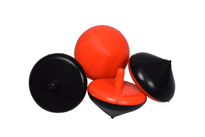 12 Black and Orange Spinning Tops - Wholesale Vending Products