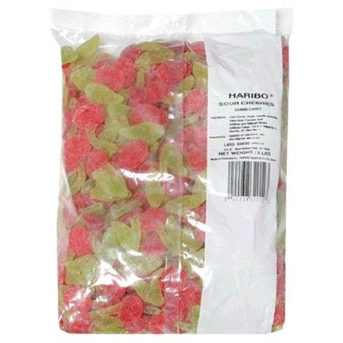 5 Lbs Haribo Gummi Candy Sour Cherries