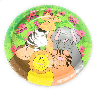 24 - Zoo Animal Paper Party Plates 9