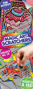 300 Magic Art Scratchers In Folders - FREE DISPLAY! - Wholesale Vending Products