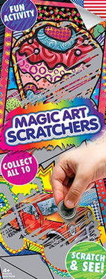 300 Magic Art Scratchers In Folders - FREE DISPLAY!