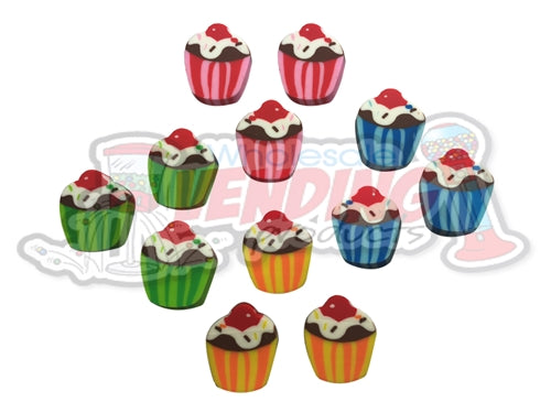 144 Mini Cupcake Erasers - Wholesale Vending Products