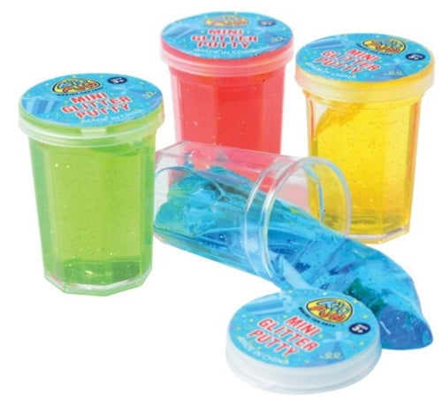 8 - Assorted Color Mini Glitter Putty - Wholesale Vending Products