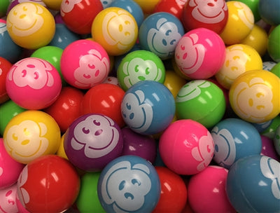 250 Monkey Face Bouncy Balls 1