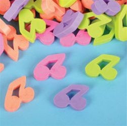 144 Musical Note Mini Erasers - Wholesale Vending Products