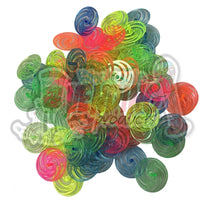 144 Mini Plastic Swirl Tops - Wholesale Vending Products