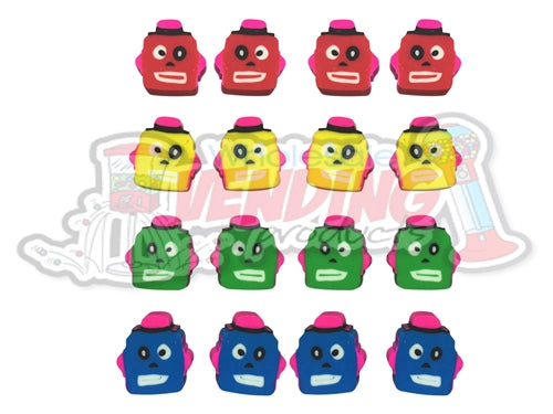 144 Mini Robot Erasers - Wholesale Vending Products
