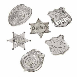 72 Mini Silver Badges - Wholesale Vending Products