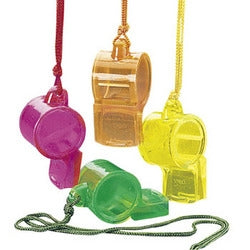 12 Neon Whistles - Wholesale Vending Products