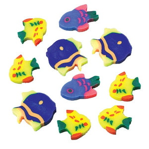 144 Neon Fish Erasers - Wholesale Vending Products
