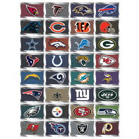 NFL License Plate Team Stickers in Folders (300 pcs) - Display Included - Wholesale Vending Products