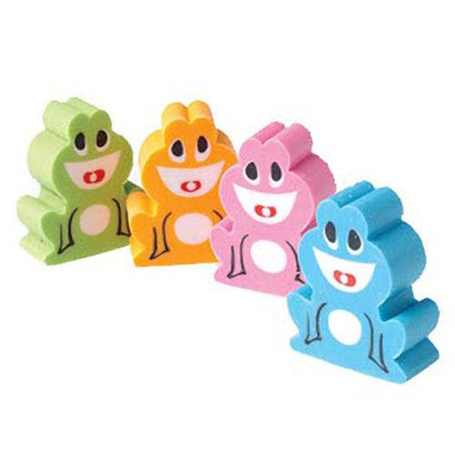 12 Open Mouth Frog Erasers - Wholesale Vending Products