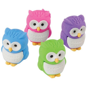 12 Owl Erasers - Wholesale Vending Products