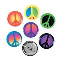 48 Peace Buttons - Wholesale Vending Products