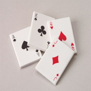 36 Playing Card Erasers
