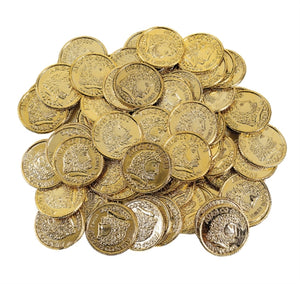 144 Plastic Gold Coins - Wholesale Vending Products