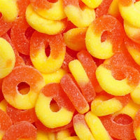 4.5 Lbs Albanese Peach Gummi Rings - Wholesale Vending Products