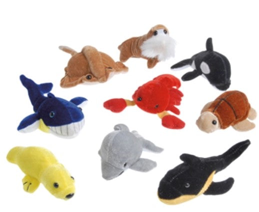 "12 Plush Sea Animals 4-10"" (Small) - Wholesale Vending Products"