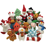 "144 PCS 6-9"" Generic Christmas Plush Mix For Crane Machines - Wholesale Vending Products"