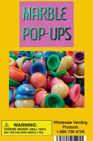 "250 Marble Pop-Ups Toys In 1"" Acorn Capsules - Wholesale Vending Products"