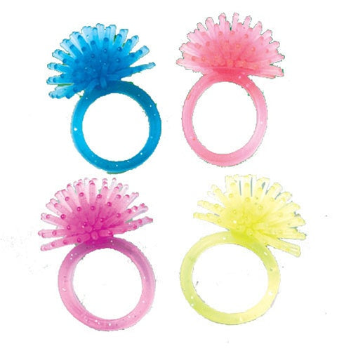 72 Glitter Porcupine Rings - Wholesale Vending Products