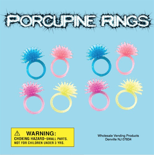 "250 Porcupine Rings In 2"" Capsules - Wholesale Vending Products"