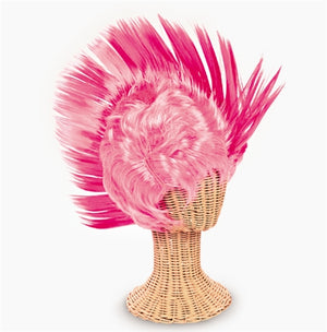 Pink Ribbon Mohawk Wig - Wholesale Vending Products