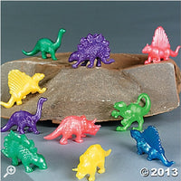 24 Pearlized Squishy Dinosaurs - Wholesale Vending Products