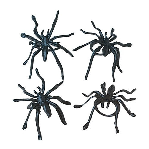 36 Plastic Spider Rings - Wholesale Vending Products