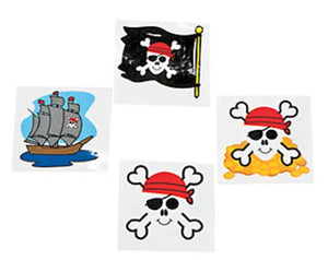 72 Pirate Tattoos - Wholesale Vending Products