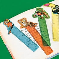 48 Rainforest Ruler Bookmarks - Wholesale Vending Products