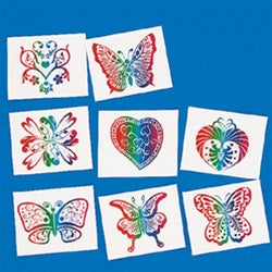 72 Rainbow Glitter Tattoos - Wholesale Vending Products