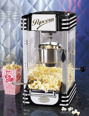 Retro Series Black Kettle Popcorn Maker