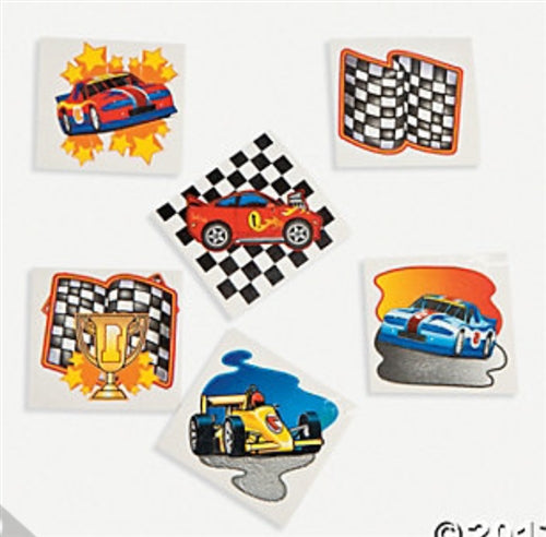 72 Racing Tattoos - Wholesale Vending Products