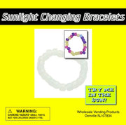 "250 Sunlight Changing Bracelets In 2"" Capsules - Wholesale Vending Products"