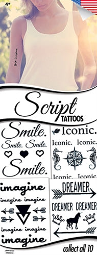 300 Script Tattoos In Folders - FREE DISPLAY! - Wholesale Vending Products