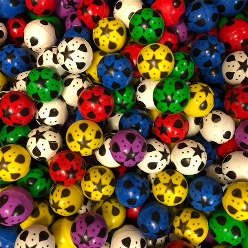 250 25mm Star Design Bouncy Balls - Wholesale Vending Products